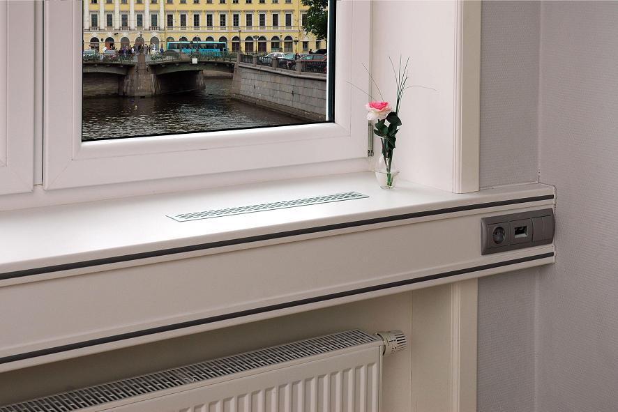 Как встроить в подоконник вентиляционные решетки / дом / жит.